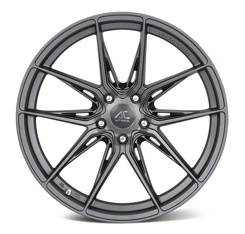 "NEW 19"" AC FF064 FLOW FORMED ALLOY WHEELS IN MATT GUNMETAL, WIDER 9.5"" REARS"
